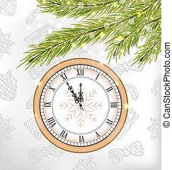 μεσάνυκτα , νέο έτος , φόντο , ρολόι