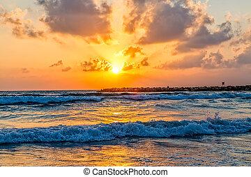 μεσογειακός , ηλιοβασίλεμα , θάλασσα