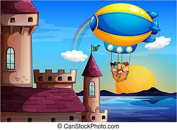 μετάβαση , κάστρο , μικρόκοσμος , balloon, πλωτός