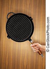 μεταλλικό σκεύος μαγειρέματος , μαντέμι , σχάρα