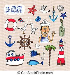 μετοχή του draw , στοιχεία , χέρι , ναυτικός