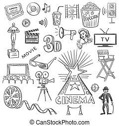 μετοχή του draw , χέρι , κινηματογράφοs