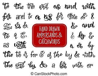μετοχή του draw , catchwords, μικροβιοφορέας , ampersands, χέρι