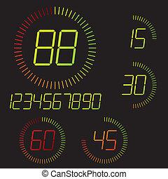 μετρών την ώραν , εικόνα , ψηφιακός