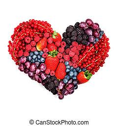με , αγάπη , να , berries.
