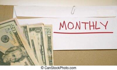 μηνιαίος , γενική ιδέα , προϋπολογισμός