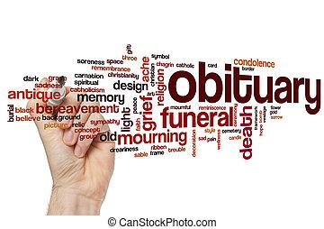 μητρώο θανάτων , λέξη , σύνεφο