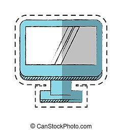 μηχάνημα , οθόνη , ηλεκτρονικός εγκέφαλος τεχνική ορολογία , γελοιογραφία