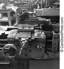 μηχανήματα , μέσα , ένα , ατσάλι , εργοστάσιο