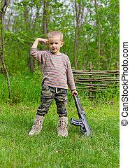 μηχανή , αγόρι , άγω , όπλο , απευθύνω χαιρετισμό