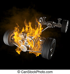 μηχανή , αυτοκίνητο , ανακύκληση , αμάξωμα , καύση