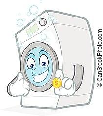 μηχανή , επινοώ , πλύση , κράτημα
