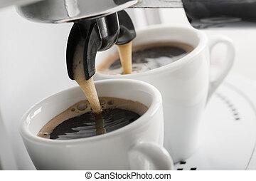 μηχανή , καφέs