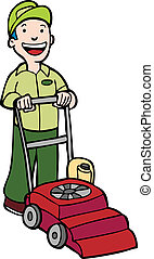 μηχανή κουρέματος γκαζόν , κηπουρός