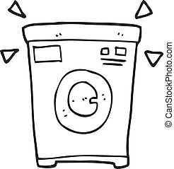 μηχανή , μαύρο , άσπρο , πλύση , γελοιογραφία