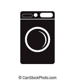 μηχανή , μαύρο , ρυθμός , εικόνα , πλύση , άσπρο , διαμέρισμα