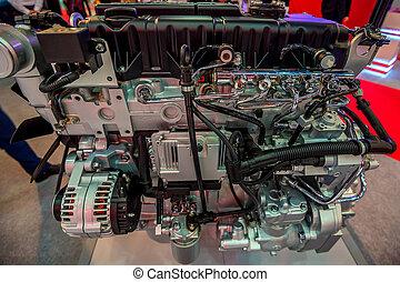 μηχανή , ντίζελ , γκρο πλαν , αόρ. του shoot , φορτηγό