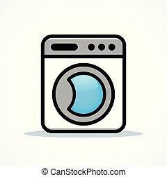 μηχανή , πλύση , μικροβιοφορέας , σχεδιάζω , clipart