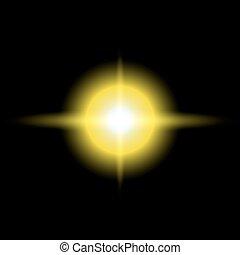 μικροβιοφορέας , αστέρι , κίτρινο , εικόνα , ξεσπώ