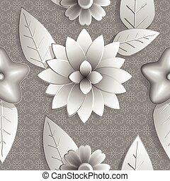 μικροβιοφορέας , βαρύς , ασημένια , eps10., φόντο , αφαιρώ , nature., leaves., 3d , νούμερο , χρώμα , hue., seamless, λουλούδια , εικόνα