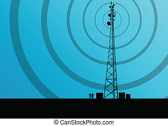 μικροβιοφορέας , βιομηχανικός , ευκίνητος τηλέφωνο , γενική ιδέα , ραδιόφωνο , φόντο , θέση , πύργος , βάση , τηλεπικοινωνία , αξιωματικός μηχανικού