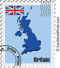 μικροβιοφορέας , γραμματόσημο , από , ηνωμένο βασίλειο