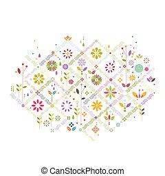 μικροβιοφορέας , γραφικός , γραφικός , σύμβολο , σύγχρονος , πρότυπο , διακόσμηση , λουλούδι , εικόνα