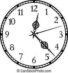 μικροβιοφορέας , γριά , εικόνα , ρολόι