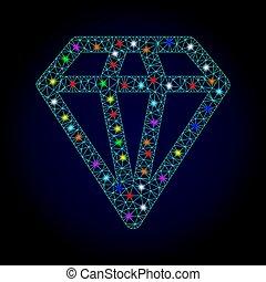 μικροβιοφορέας , διαμάντι , ελαφρείς , κορνίζα , chistmas, βρόχος , σύρμα , ανακαλύπτω