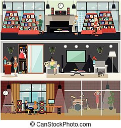μικροβιοφορέας , διαμέρισμα , γενική ιδέα , αφίσα , αναμετάδοση , θέτω , ραδιόφωνο