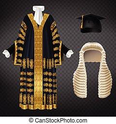 μικροβιοφορέας , δικαστές , θέτω , ρουχισμόs , εθιμοτυπικός