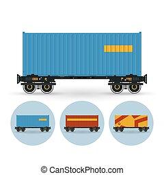 μικροβιοφορέας , δοχείο , απεικόνιση , θέτω , εξέδρα , έγχρωμος , δοχείο , σιδηρόδρομος , εικόνα