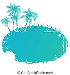 μικροβιοφορέας , εικόνα , από , καλοκαίρι , τροπικός , σημαία