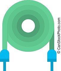 μικροβιοφορέας , ηλεκτρικός , illustration., καλώδιο