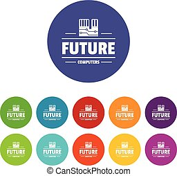 μικροβιοφορέας , θέτω , απεικόνιση , χρώμα , υπολογιστές , μέλλον