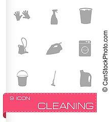 μικροβιοφορέας , θέτω , μαύρο , καθάρισμα , απεικόνιση