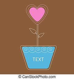 μικροβιοφορέας , καρδιά , λουλούδι , κάρτα , pot.