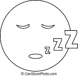μικροβιοφορέας , κοιμάμαι , λεπτός , χαμόγελο , γραμμή , εικόνα
