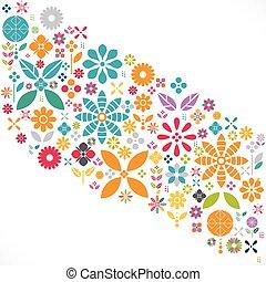 μικροβιοφορέας , λουλούδι , γραφικός , πρότυπο , σύγχρονος , πρότυπο , γραφικός , εικόνα , διακόσμηση