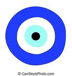μικροβιοφορέας , μάτι , σύμβολο , - , κακό , ελληνικά ,...