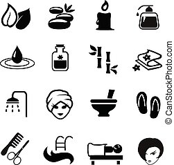 μικροβιοφορέας , μαύρο , απεικόνιση , θέτω , ιαματική πηγή