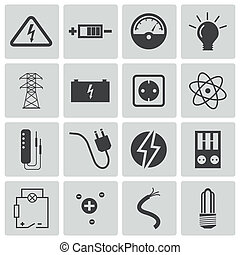 μικροβιοφορέας , μαύρο , ηλεκτρισμόs , απεικόνιση , θέτω