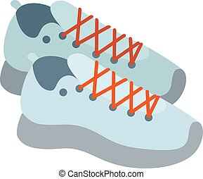 μικροβιοφορέας , πάνινα παπούτσια , illustratioon.