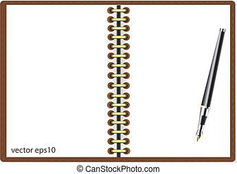 μικροβιοφορέας , πένα , σημειωματάριο , illustratio