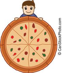 μικροβιοφορέας , πίτα με τομάτες και τυρί