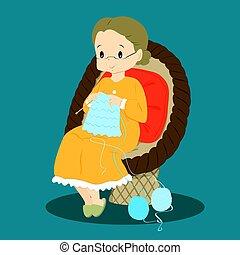 μικροβιοφορέας , πλέξιμο , γιαγιά