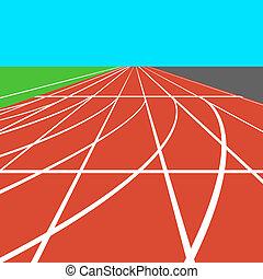 μικροβιοφορέας , ποδόμυλος , στάδιο , αγαθός αριστερός , lines., illustration.
