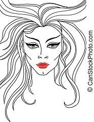 μικροβιοφορέας , πορτραίτο , γυναίκα