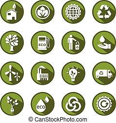 μικροβιοφορέας , πράσινο , eco, απεικόνιση , θέτω