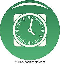 μικροβιοφορέας , πράσινο , retro , ρολόι , εικόνα